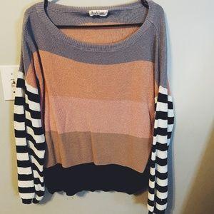 SALE boutique color block sweater